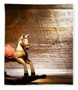 The Old Rocking Horse In The Attic Fleece Blanket