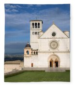 The Papal Basilica Of St. Francis Of Assisi  Fleece Blanket