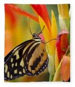 The Postman Butterfly Fleece Blanket