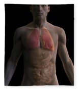 The Respiratory And Digestive Systems Fleece Blanket