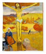 The Yellow Christ Fleece Blanket