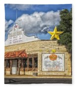 The Yellow Rose Of Crawford Texas Fleece Blanket