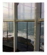 Through Lighthouse Window  Fleece Blanket
