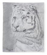 Tiger Watching Fleece Blanket