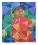 Tiger Woods Fleece Blanket