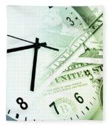 Time Is Money Fleece Blanket