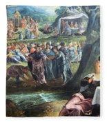 Tintoretto's The Worship Of The Golden Calf Fleece Blanket