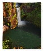 Toketee Falls - Oregon Fleece Blanket