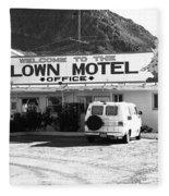 Tonopah Nevada - Clown Motel Fleece Blanket