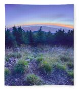 Top Of Mount Mitchell After Sunset Fleece Blanket