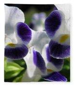 Torenia From The Duchess Mix Fleece Blanket