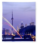 Toronto Fireworks Fleece Blanket