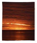 Torrey Pines Sunset Fleece Blanket