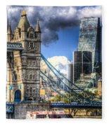 Tower Bridge And The City Fleece Blanket