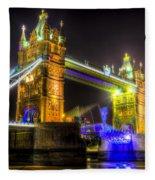Tower Bridge Opening Fleece Blanket