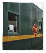 Tpw Rr Caboose Side View Fleece Blanket