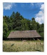 Traditional Polish Cottage House Fleece Blanket