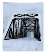 Train Bridge Fleece Blanket