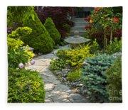 Tranquil Garden  Fleece Blanket