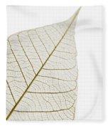 Transparent Leaf Fleece Blanket
