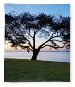 Tree By The Bay Fleece Blanket