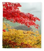 Trees In A Garden, Butchart Gardens Fleece Blanket