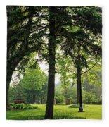Trees In A Park, Adams Park, Wheaton Fleece Blanket