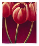 Tulips Are People Xiv Fleece Blanket