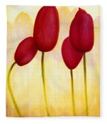 Tulips Are People Xv Fleece Blanket