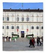 Turin Palazzo Reale Fleece Blanket