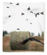 Turkey Vulture Takes Flight Fleece Blanket