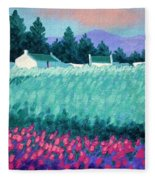 Turquoise Meadow Fleece Blanket