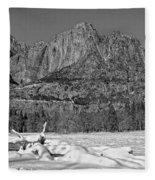 Snowy Yosemite Fleece Blanket