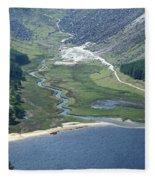 Upper Lake At Glendalough Fleece Blanket
