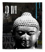 Urban Buddha  Fleece Blanket
