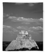 Uxmal Ruins Fleece Blanket