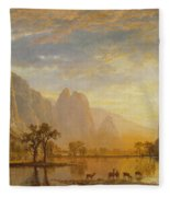 Valley Of The Yosemite Fleece Blanket