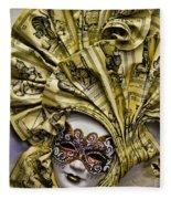 Venetian Carnaval Mask Fleece Blanket
