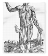 Vesalius: Muscles, 1543 Fleece Blanket