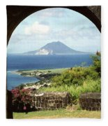 View From Brimstone Hill Fortress Fleece Blanket