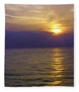 View Of Sunset Through Clouds Fleece Blanket