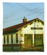 Villisca Train Depot Fleece Blanket