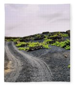 Vineyard On Lanzarote Fleece Blanket