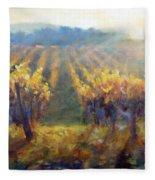 Vineyard Sunset Fleece Blanket
