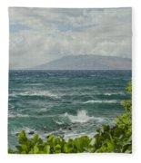 Wailea Point Maui Hawaii Fleece Blanket