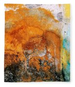 Wall Abstract 40 Fleece Blanket