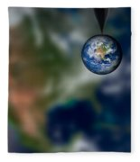 Water And Earth Fleece Blanket