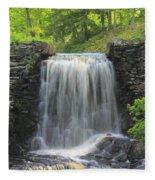 Water Fall Moore State Park Fleece Blanket