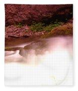 Water Over Rock  Fleece Blanket
