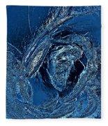 Water Rose Fleece Blanket